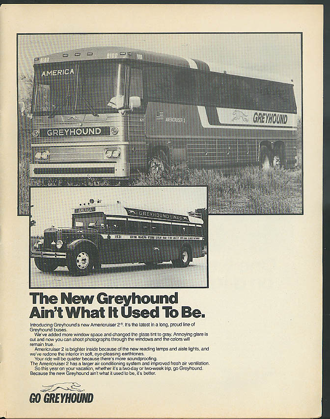 The New Greyhound Bus Ain't What It Used To Be ad 1979
