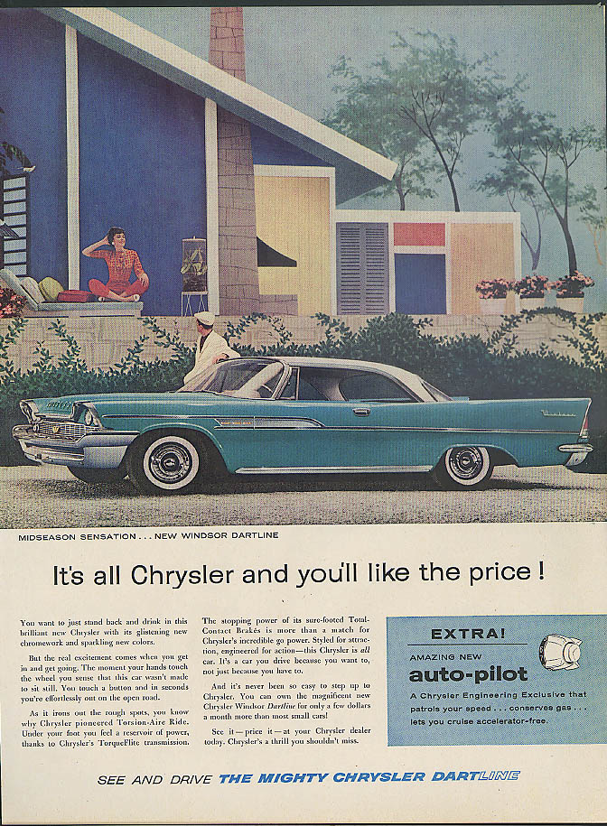 Image for It's all Chrysler and you'll like the price Windsor Dartline ad 1958