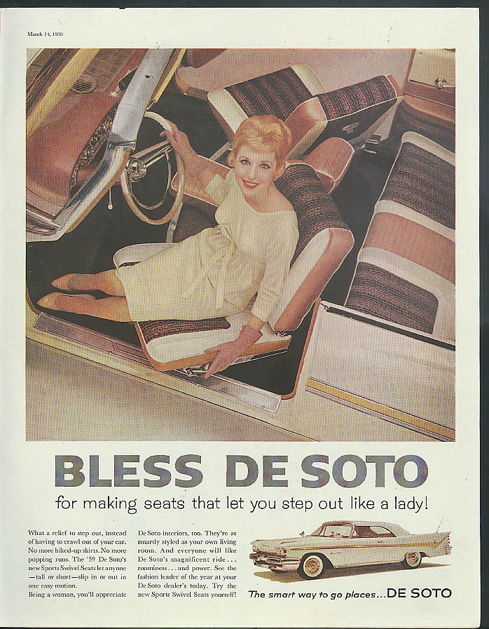 adSeats that let you step out like a lady DeSoro Adventurer  1959