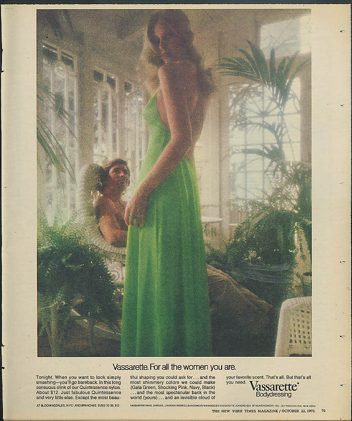 Image for For all the women you are Vassarette Bodydressing nightgown ad 1972