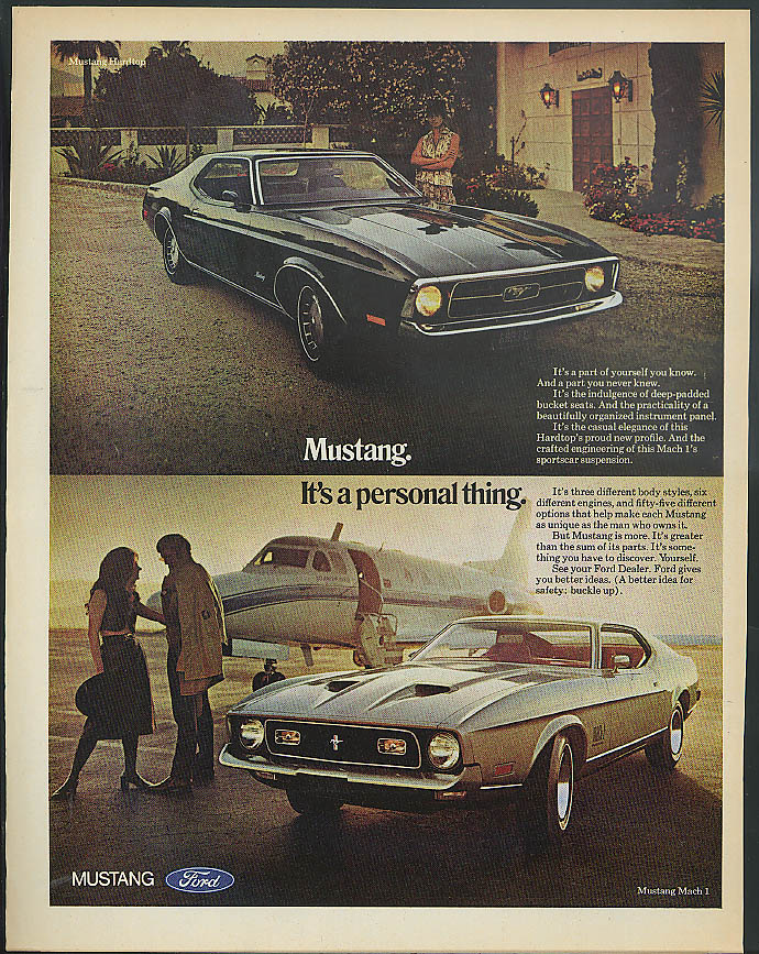 Image for Mustang Hardtop & Mach I - It's a personal thing ad 1971 Life Magazine