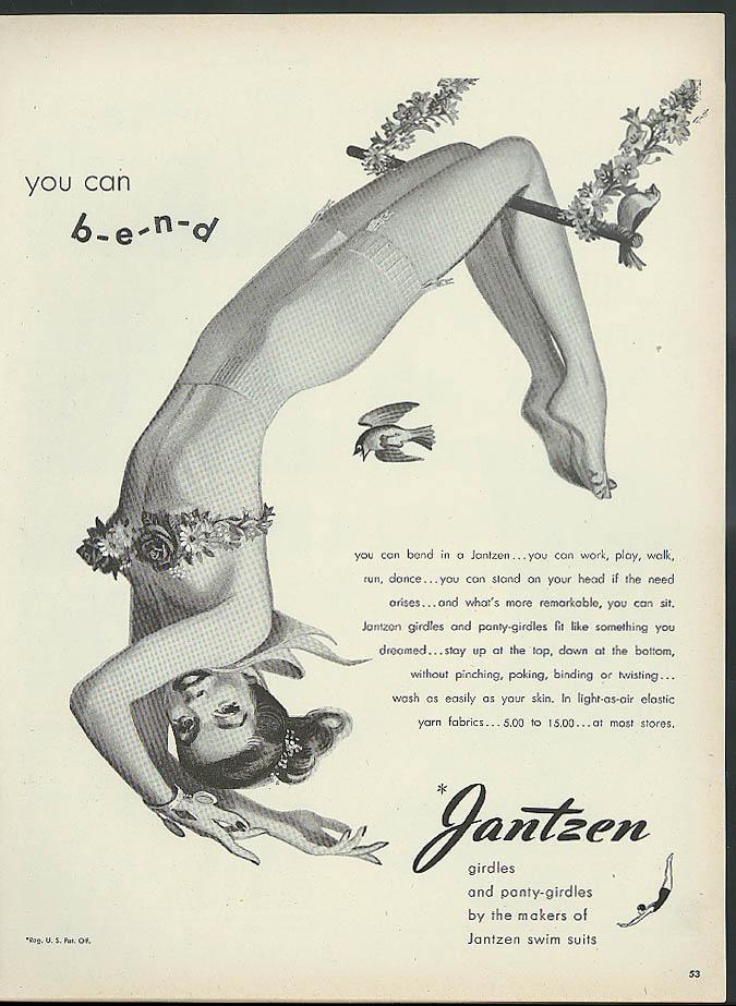 You can b-e-n-d Jantzen Girdle & Pantygirdle ad 1947 Pete Hawley pin-up