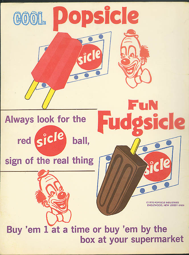 Image for Coll Popsicel Fun Fidgsicle Circus Clown ad 1970