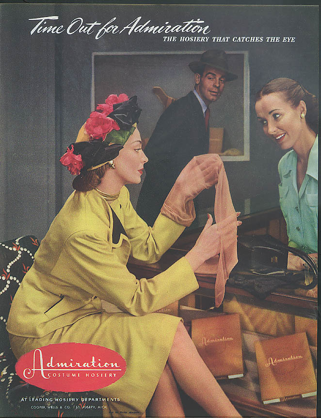 Tome Out for Admiration . . Cooper Wells Admiration Hosiery ad 1946