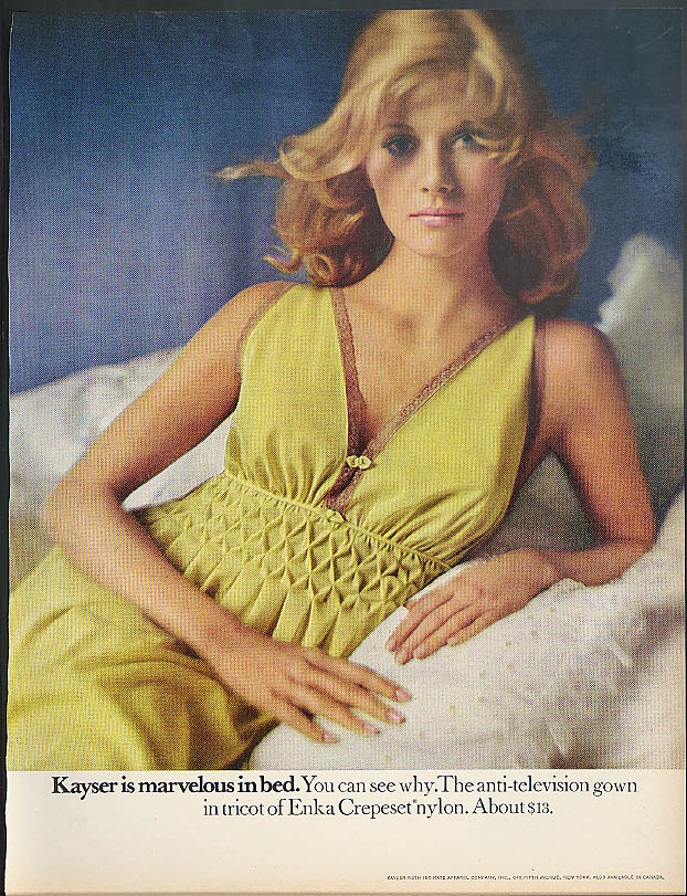 The anti-television gown Kayser is marvelous in bed ad 1970
