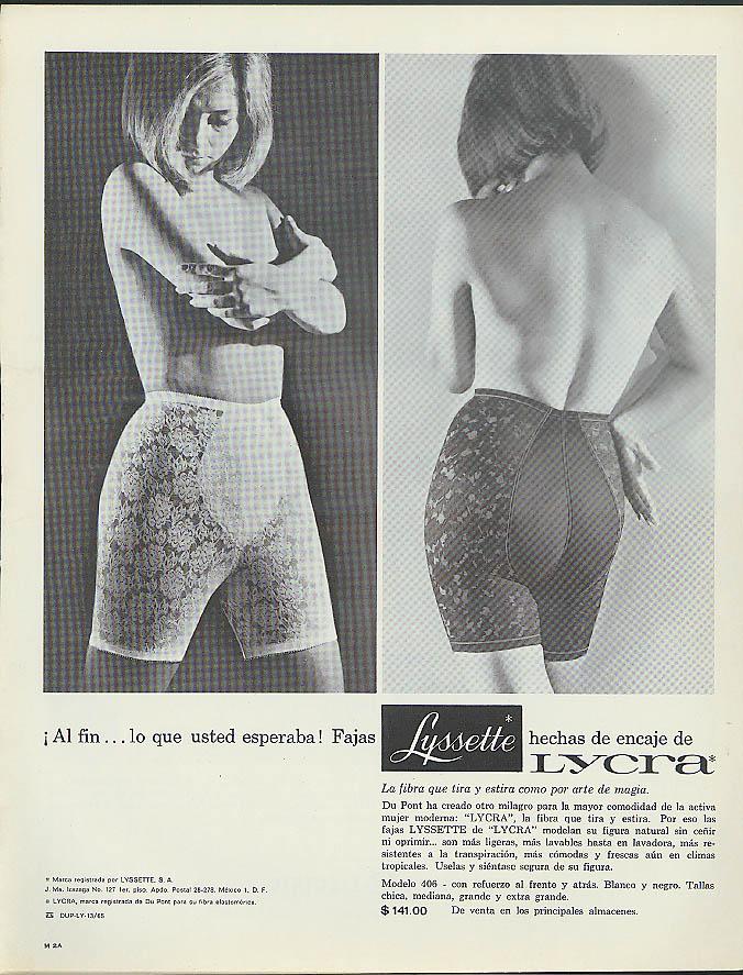 Bikini bra and panty stockings by Belle-Sharmeer ad 1970