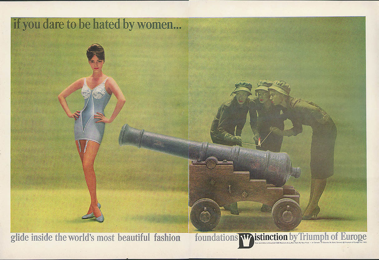 If you dare to be hated by women Distinction by Triumph longline girdle ad 1960