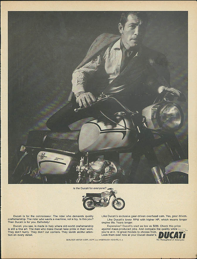A motorcycle it ain't. Vespa Motorscooter ad 1965
