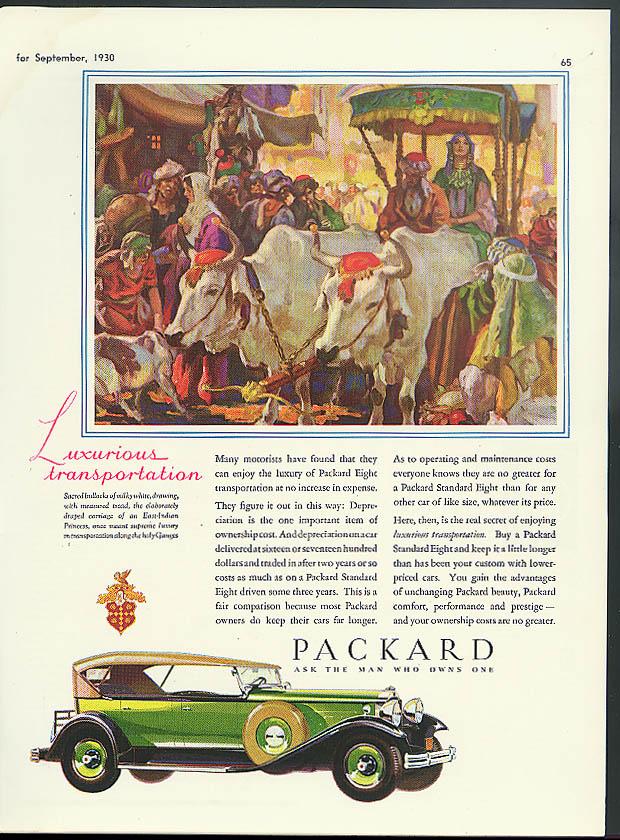 Luxurious Transportation sacred bullocks Packard Phaeton ad 1930 The Theatre
