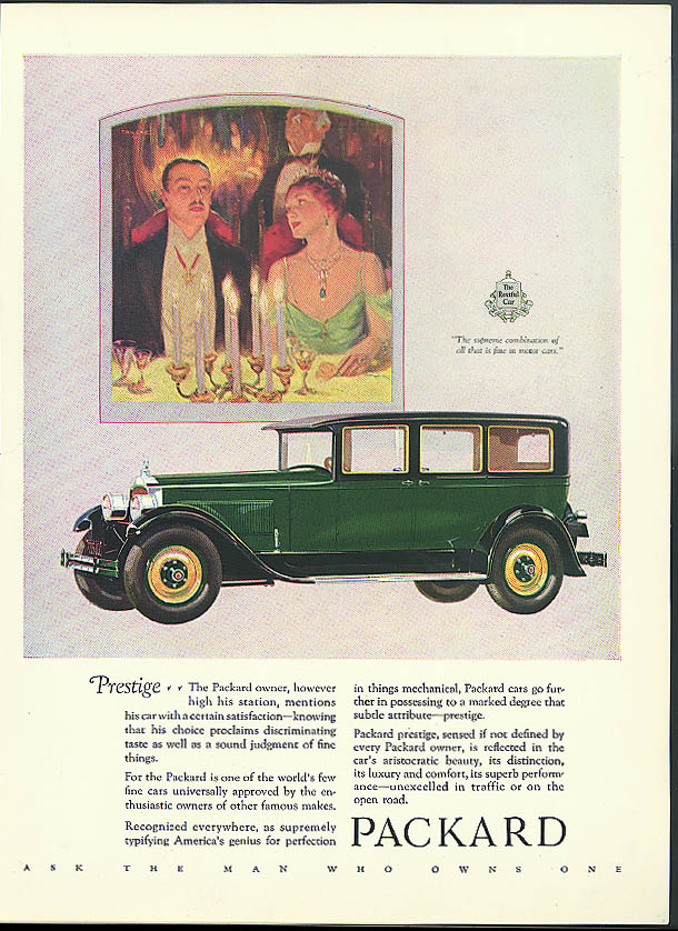 Prestige - The Packard owner mentions with satisfaction Sedan ad 1927