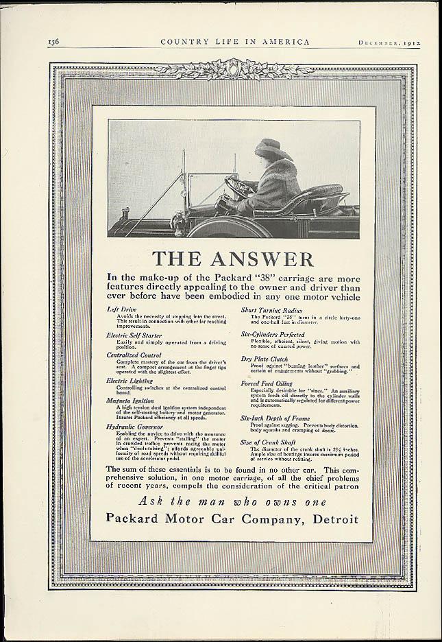 Packard 38 / American Underslung Traveler Limousine ad 1912 1913