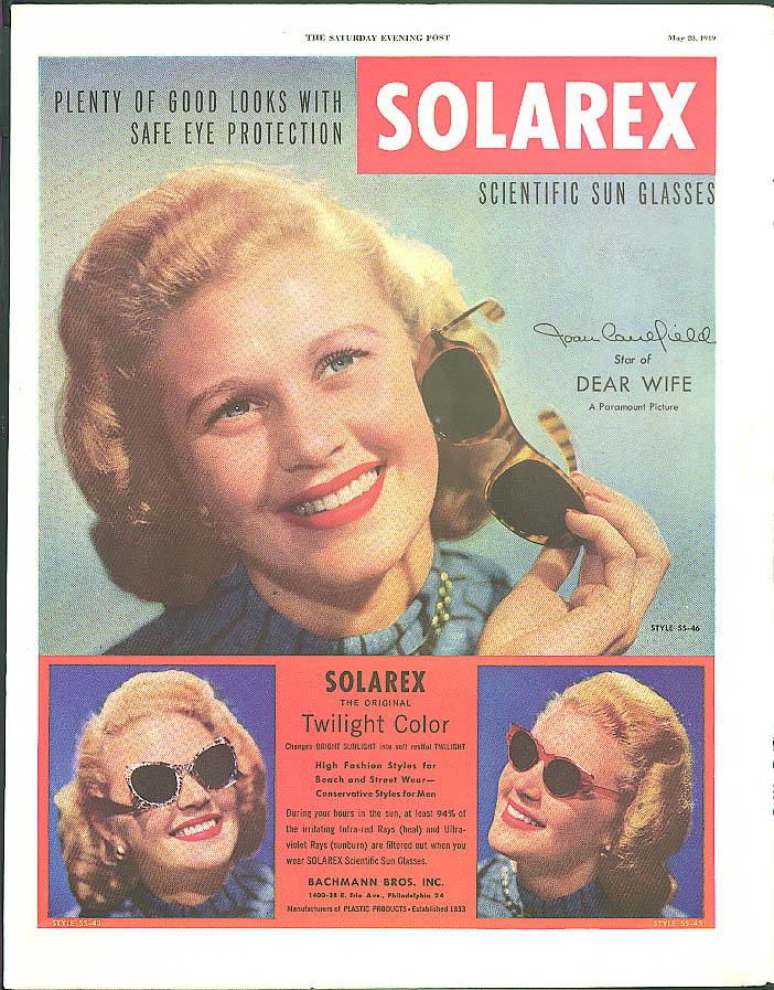 Joan Caulfield in Dear Wife for Solarex Sun Glasses ad 1949