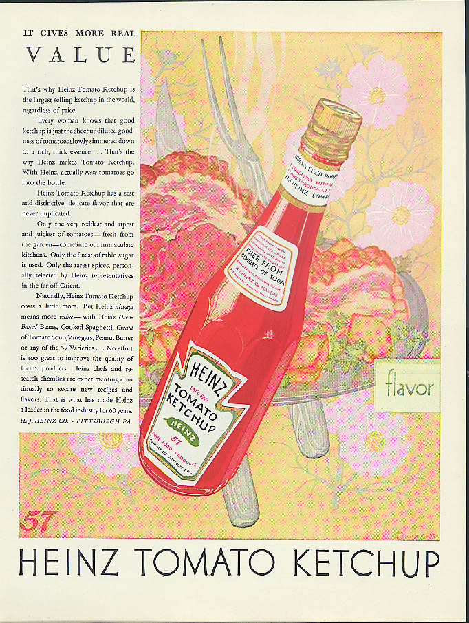 Image for It gives more real value Heinz Tomato Ketchup ad 1929