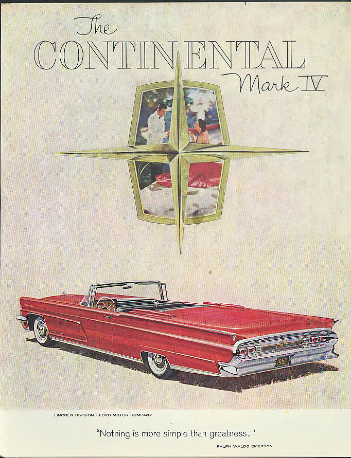 Image for Nothing is more simple than greatness Lincoln Continental Mark IV ad 1959