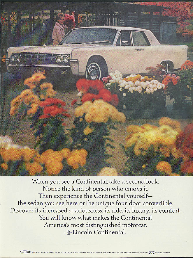Image for When you see a Lincoln Continental take a second look ad 1964