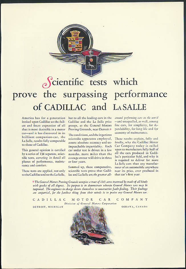 Cadillac Surpassing / More Miles Safer Miles Fisk Tires skinny dip ad 1927