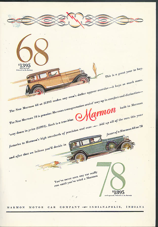 This is a Great Year to Buy Marmon 68 Marmon 78 ad 1928 House Beautiful