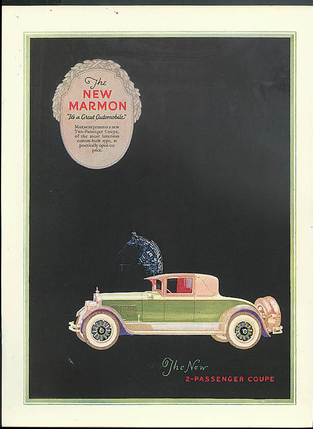 The new Marmon Two-Passenger Coupe ad 1926