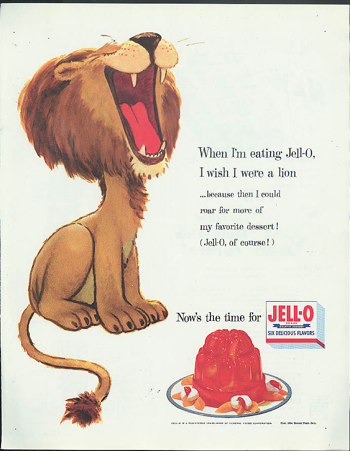 Image for When I'm eating Jell-O I wish I were a lion! Ad 1954