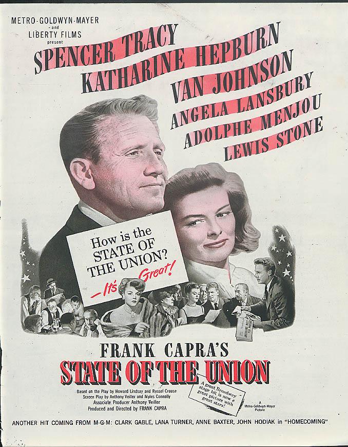 Katharine Hepburn Spencer Tracy State of the Union MAGAZINE AD 1948