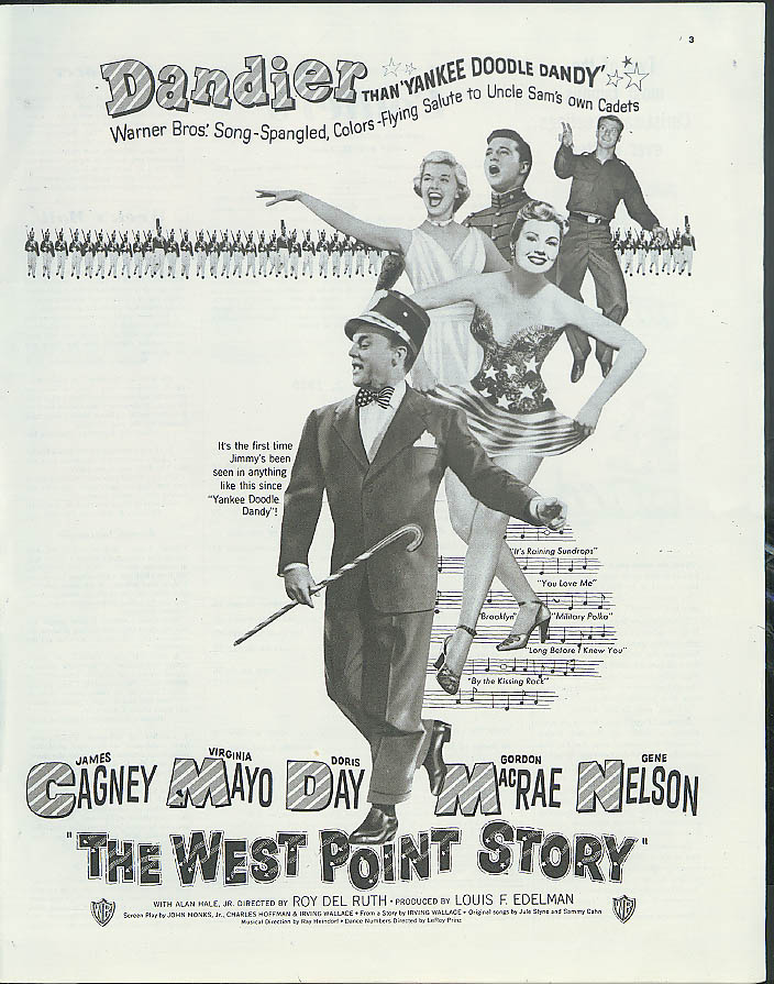 James Cagney Doris Day Virginia Mayo in The West Point Story MAGAZINE AD 1950
