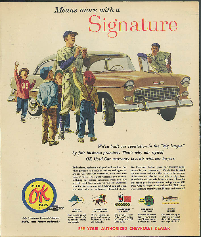 Means more with a Signature 1955 Chevrolet Bel Air Coupe OK Used Cars ad 1957