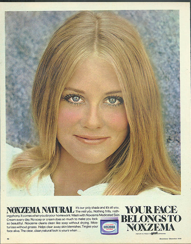Cybill Shepherd for Your Face Belongs to Noxzema Natural Skin Cream ad 1970