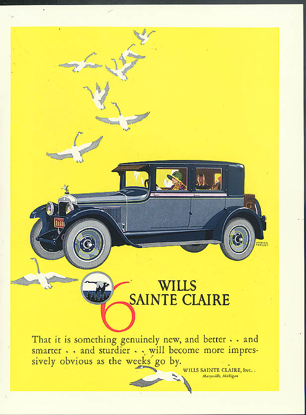 That it is something genuinely new Wills Sainte Claire Sedan ad 1926