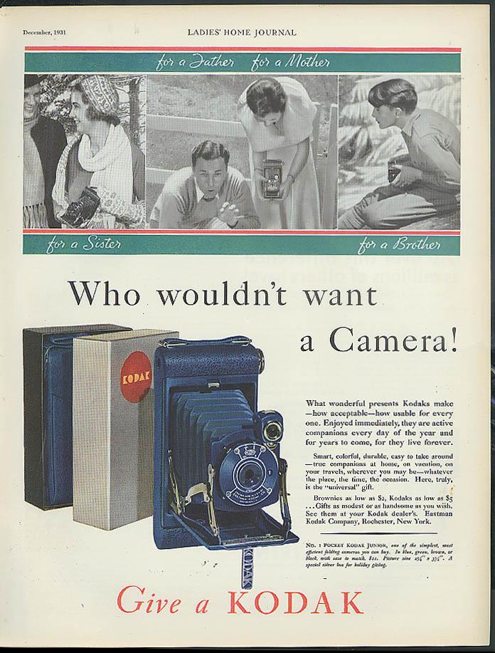 Who wouldn't want a Kodak No. 1 Pocket Junior ad 1931