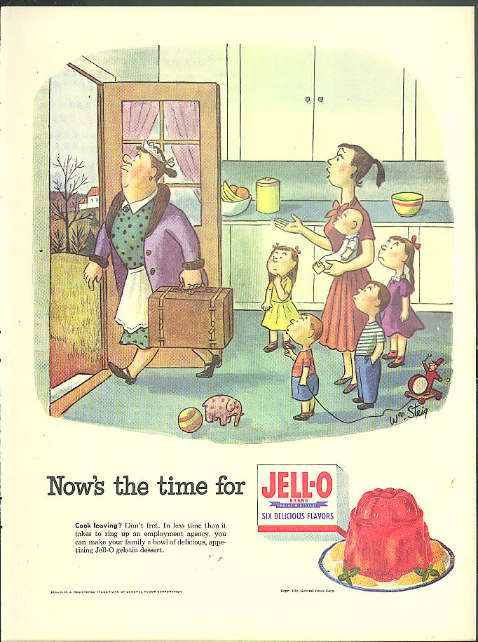 William Steig for Jell-O / Big-Car Value Medium-Car Cost Packard Clipper ad 1953