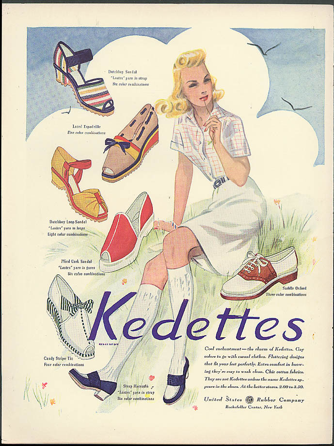 Charm of Kedettes women's shoes / Hydra-Matic like a dream Oldsmobile ad 1941