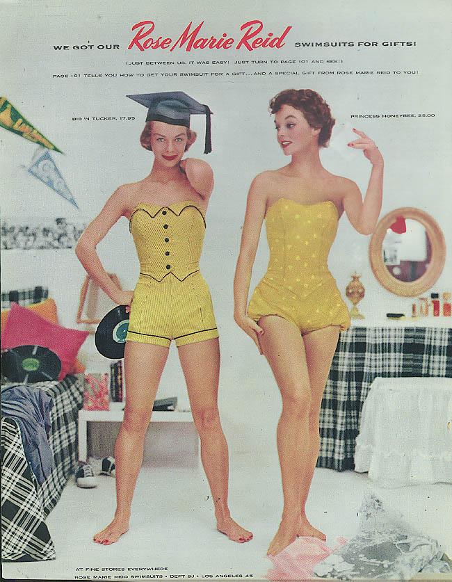 113cf203dfd We Got Our Bib N Tucker & Princess Honeybee Swimsuits by Rose Marie Reid ad  1953