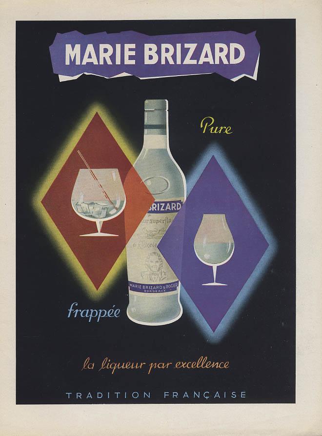 Marie Brizard Liqueur pure frappee la liqueur par excellence ad 1953
