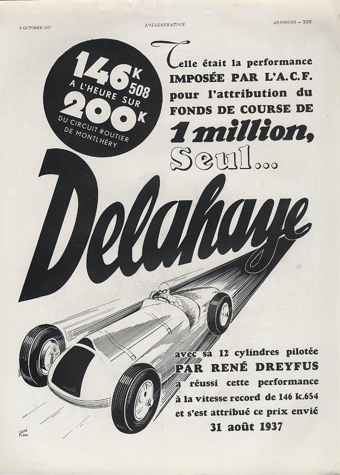146.508 KPH sur 200K Circuit Routier de Montlhery Delahaye ad 1937