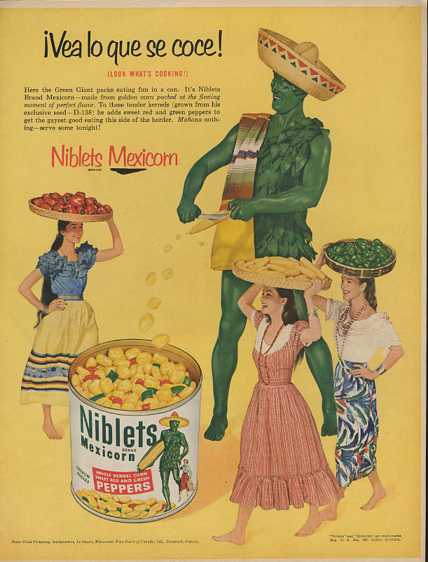 Image for Vea lo que se coce! Niblets Mexicorn Green Giant ad 1954