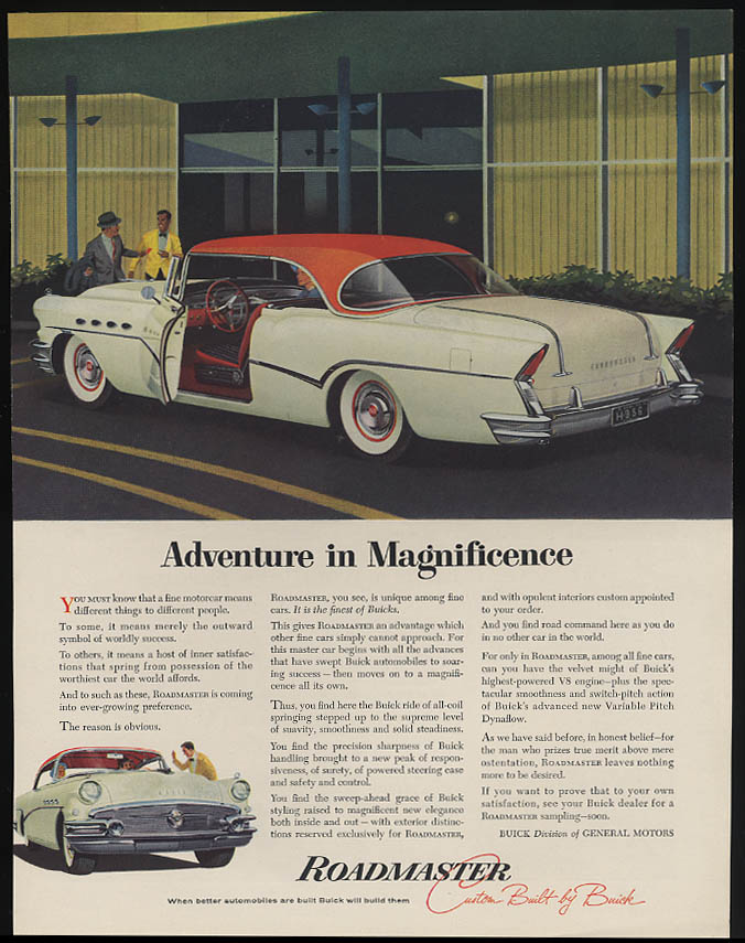 Adventure in Magnificence Buick Roadmaster 2-door Hardtop ad 1956 F