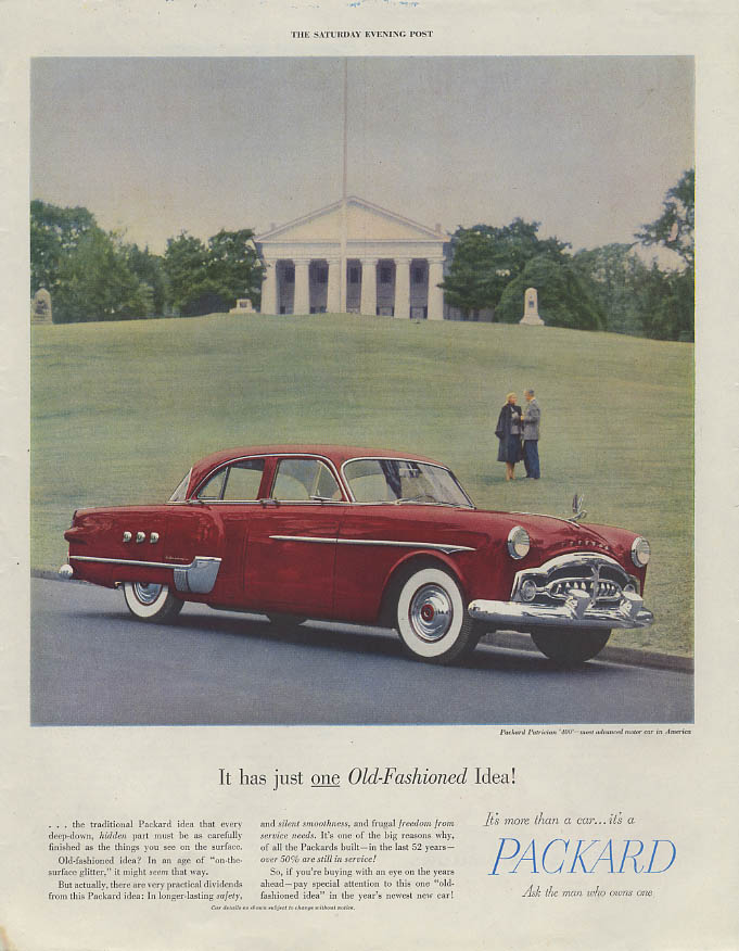 It has just one Old-Fashioned idea! Packard Patrician 400 ad 1951`