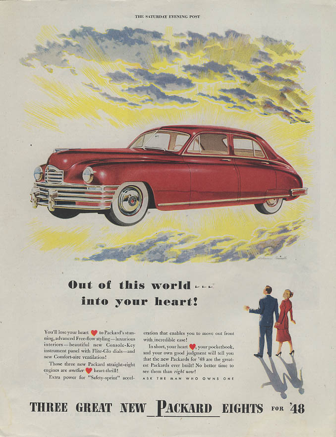 Image for Out of this world  - into your heart! Packard Eight 4-door Sedan ad 1948