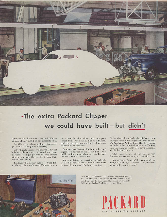 The extra Packard Clipper we could have built but didn't ad 1946