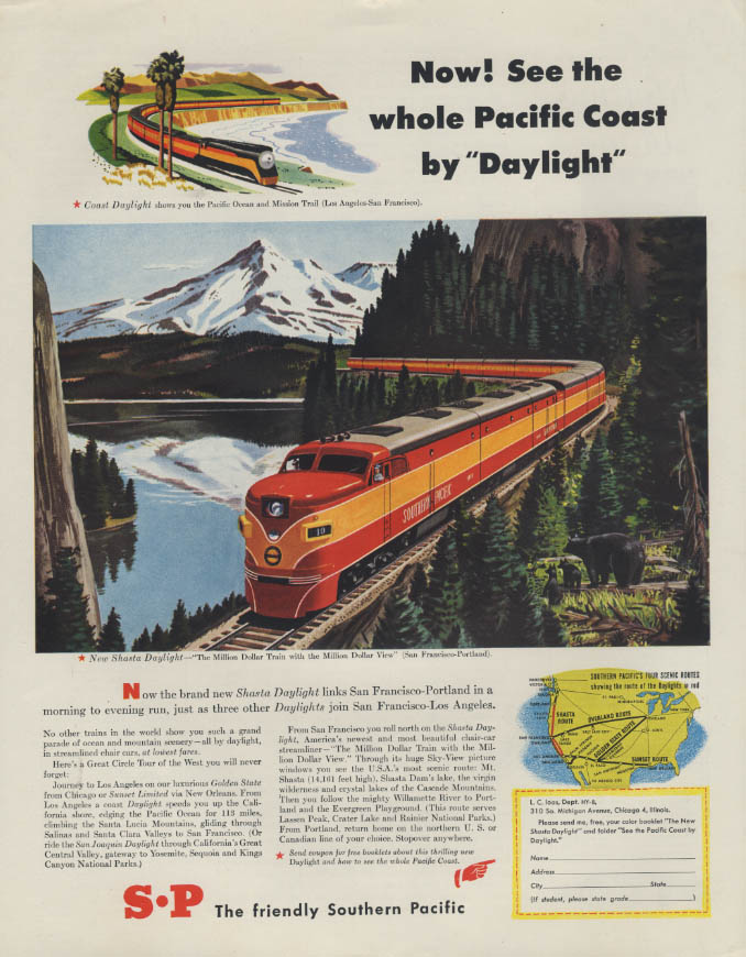 Image for See the whole Pacific Coast on the Southern Pacific Daylight ad 1949