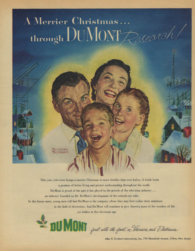 A Merrier Christmas Du Mont TV / Terry & the Pirates Canada Dry ad 1952