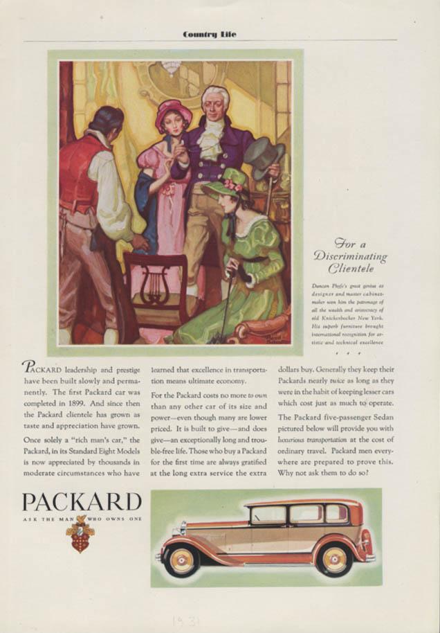 Leadership built slowly & permanently Packard 5-passenger Sedan ad 1931