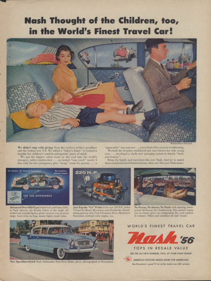 Nash Thought of the Children, too Ambassador Four-Door Sedan ad 1956