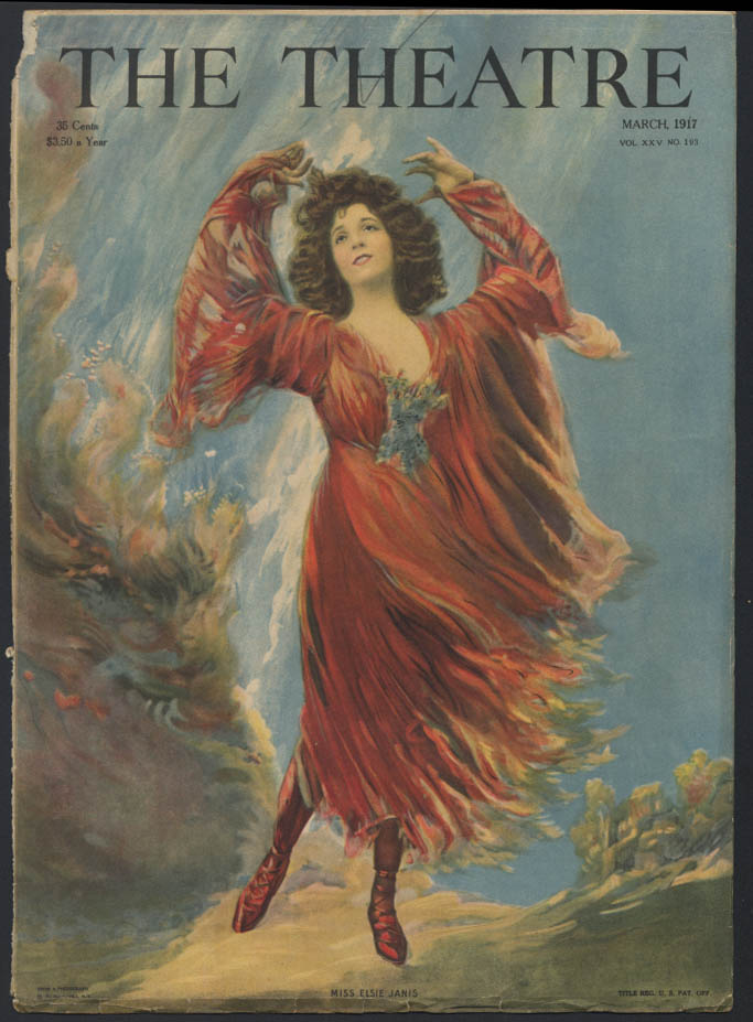Willys-Knight Supreme Motor / Elsie Janis The THEATRE COVER 1917ad