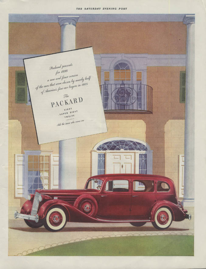 A new and finer version Packard 4-door sedan ad 1936 P
