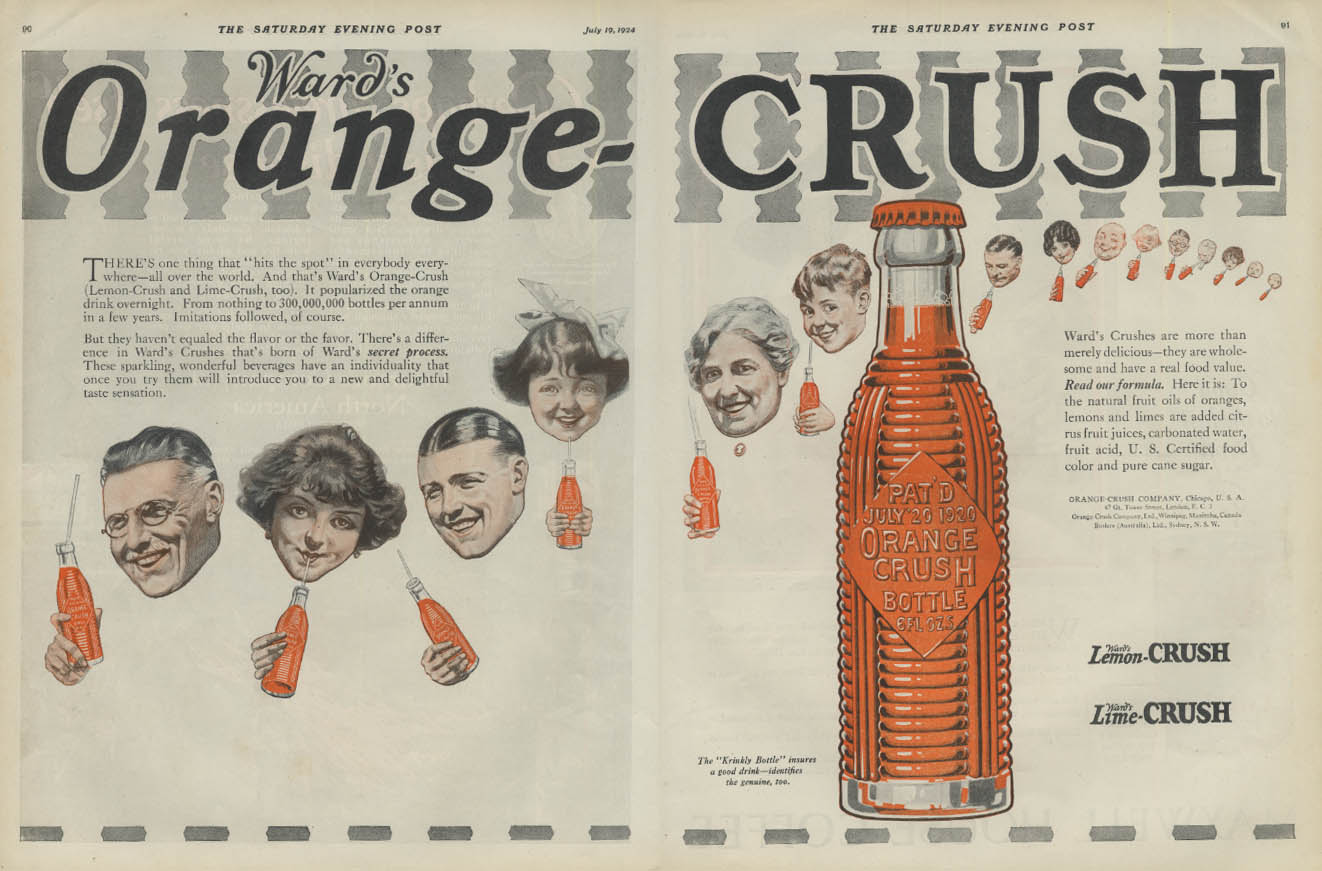 Pne thing that hits the sport Ward's Orange Crush ad 1924 P
