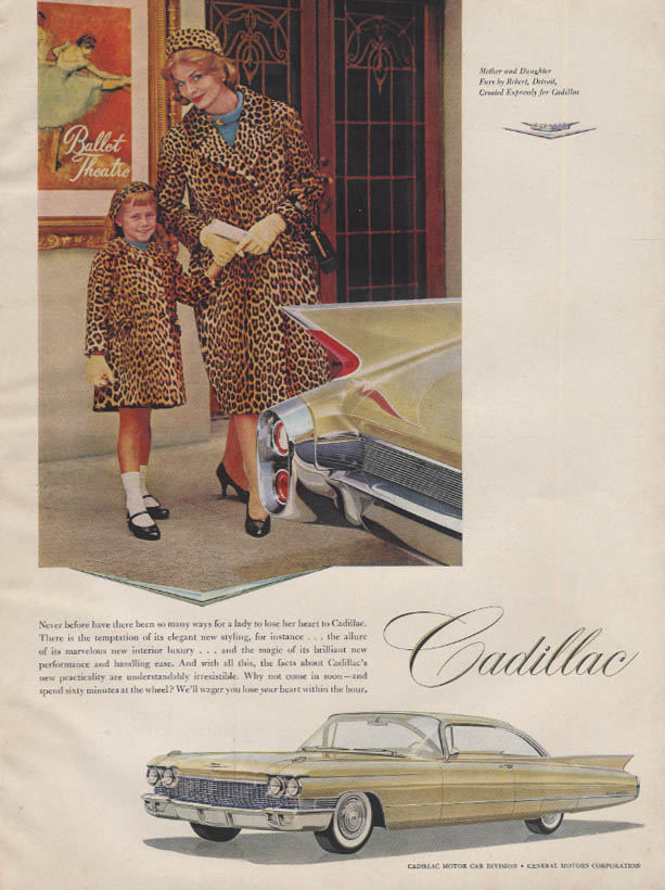 So many ways for a lady to lose her heart Cadillac Coupe de Ville ad 1960