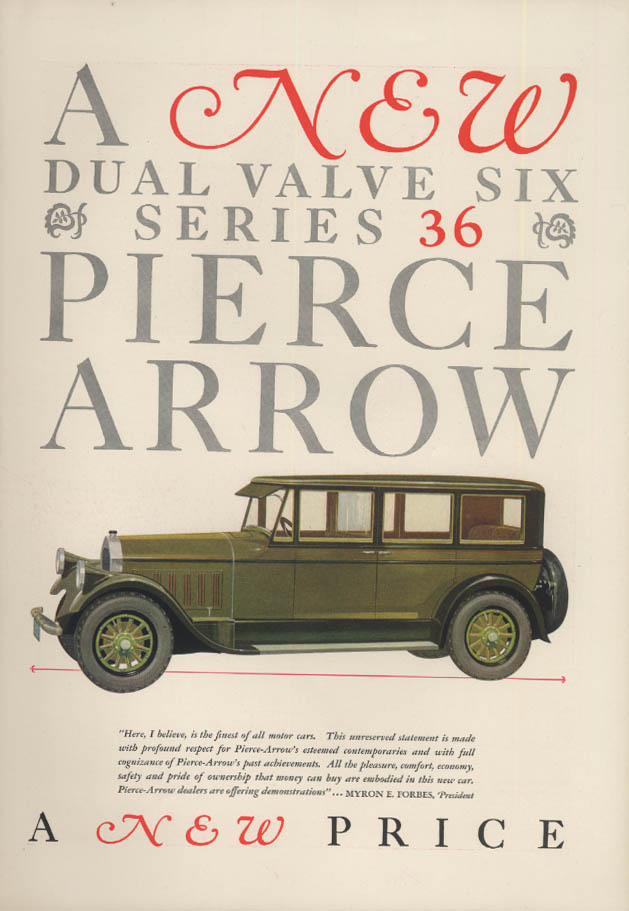 A new dual valve six Series 36 Pierce-Arrow Sedan ad 1927 T&C