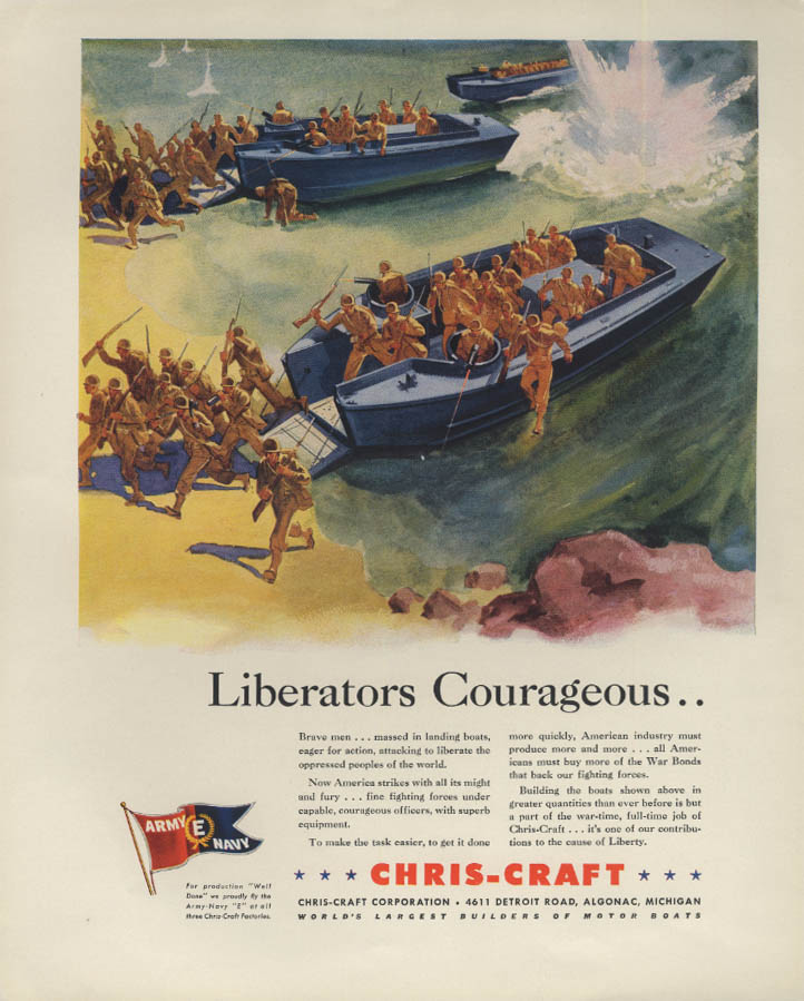 Liberators Courageous - Chris-Craft Landing Ship ad 1942 F
