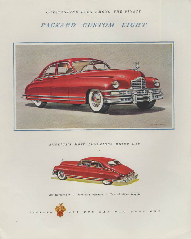 Outstanding even among the finest Packard Custom Eight ad 1948 F